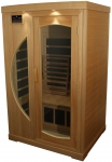 Luxus Infrarot Wärmekabine in Hemlock Runddesign für 2 Personen
