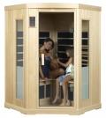 Luxus Infrarot Eck-Wärmekabine in Hemlock für 2-3 Personen